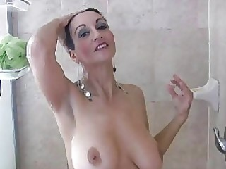 dark brown mother i with big boobs masturbates