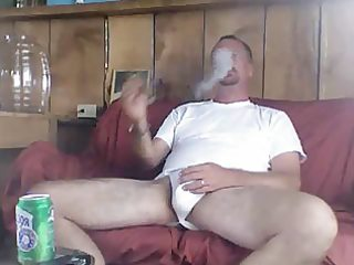daddy smokin a well merited cigar after fucking