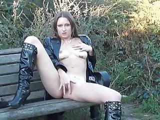 hawt english milf randy masturbating outdoors
