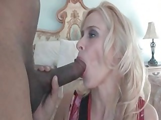 Freaky mom Peyton Leigh plays with huge black cock