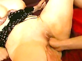 mature non-professional with large butt fisted