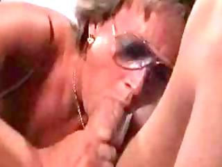 busty golden-haired granny may be old but she