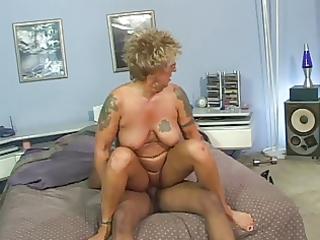 pierced teats tattoo granny in nylons bonks