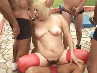 aged granny golden-haired victoria team fuck