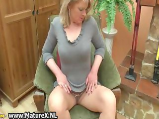 golden-haired older housewife with large part4