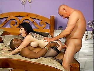mother i in stockings takes on 6 big dicks