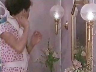 vintage porn with a mature brunette hair getting