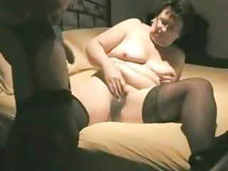 old wife having pleasure in front of cam