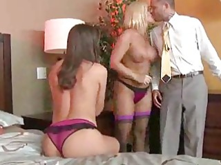 milfs in bustiers and underware have a three-some