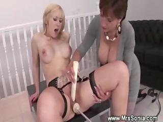 breasty mother i helps lady reach an orgasm