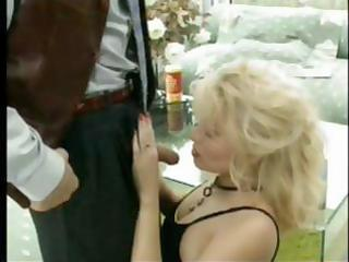 french blond mother i secretary seduces the boss
