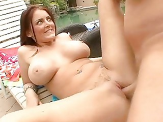 large titted mother i slut shags by the pool
