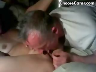 grandad giving grandma oral pleasure