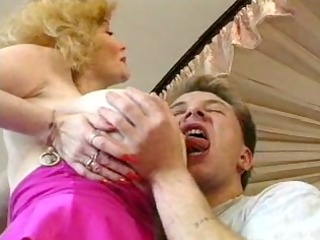 sexy german breasty blond granny cougar