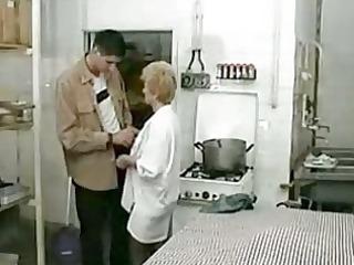 granny screwed in restaurant kitchen xlx