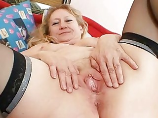 bawdy old grandma wet crack widening and
