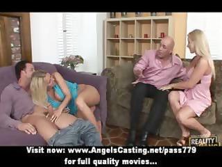 stunning blond non-professional moms having sex
