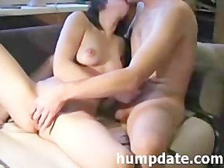 hawt wife gives handjob with pleased end on web