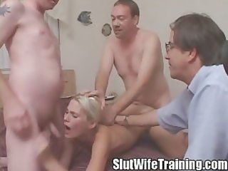 cuckold spouse watching wife tag teamed and