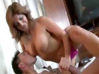 sexy milf hottie tugging for cum for this