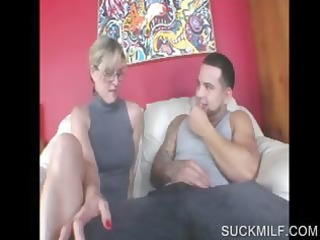 golden-haired milf sharing penis in some