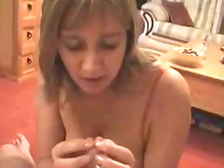 talking wife sucks and takes a facial.