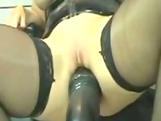 kinky leather mother i marian rides giant fake